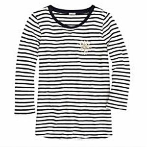 J. Crew Striped Painter Tee with Crystal Burst